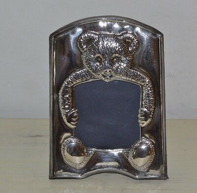 Sterling Silver KFL Teddy Bear Picture Frame