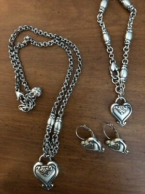 VINTAGE BRIGHTON Jewelry set Necklace,Bracelet and earrings