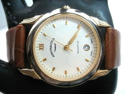 Aeronautica Vintage Unisex Watch Gold Plated Case 32.00 Mm New Old Stock /analog