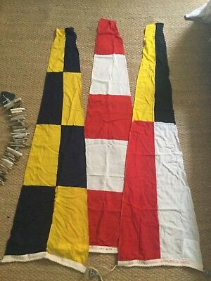 Incredible Maritime Flags / Burgees - Original Vintage mint condition