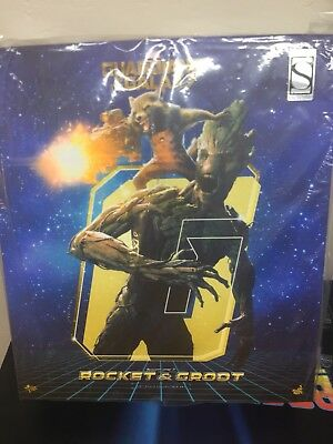 Hot Toys MMS254 Rocket And Groot Two Pack Sideshow Exclusive