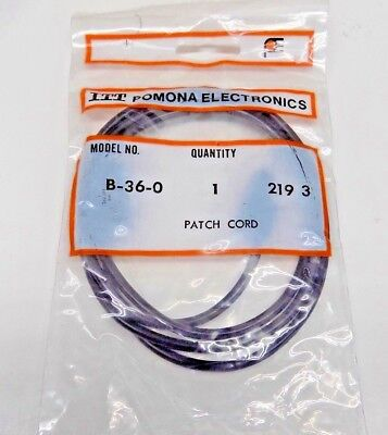 New Pomona B-36-0 Banana Plug Black Patch Cord