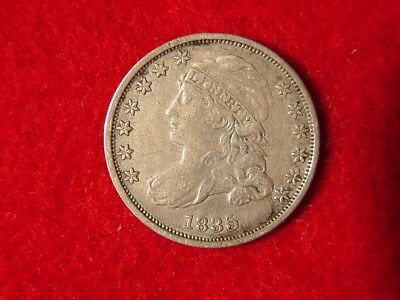 1835 P Capped Bust Dime Small 90% Silver Coin Circulated FREE S/H After 1st Item