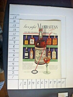 "1937 Bottles Pictures - "" Old Overholt  Whiskey ""  Vintage Ad S04"