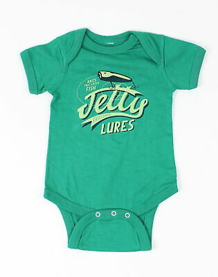Jetty Infant Mini Lures S/S Bodysuit One Piece Baby Green Size 12-18M New