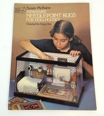 Miniature Needlepoint Rugs For Dollhouses Dover Needlework Series Susan McBaine