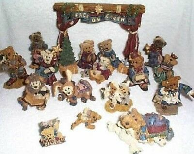 Boyd's Bears 16 piece Nativity brand new in boxes never opened