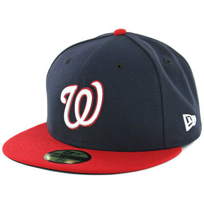 New Era Washington Nationals ALT 59Fifty Fitted Hat (Dark Navy/Red) MLB Cap