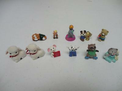 Hallmark Merry Miniatures Animals Lot Of 11 - Dog, Fox, Raccoon, Mouse, etc.