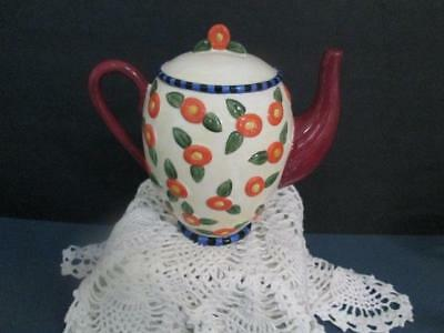 """Mary Engelbreit Porcelain Teapot Bank Designed By Charpente 7 """" High Pre-Owned"""