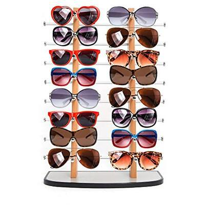 Categories Sunglass Display, Wooden Look Laminate Sunglasses Rack, Eyewear Up To