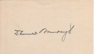 Dolph Briscoe Autographed Index Card 41st Governor of Texas D.10