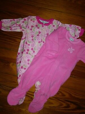 NWT Circo Infant Girls Two Pack Blanket Sleepers Footed PJ Pink Size 6 Months