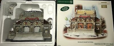 Dept 56 Christmas in the City - Christmas at Lakeside Park Pavillon