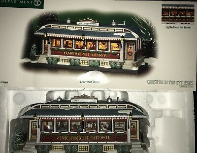 Dept Department 56 AMERICAN DINER 799939 Retired Christmas In the City