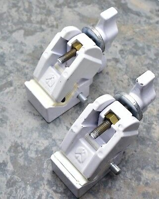 Lot Two (2) Manfrotto Art. 035 Super Clamps in White Grip Bogen (#3301)