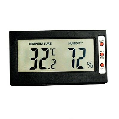 Indoor Mini Digital LCD Thermometer Hygrometer Max Min 0~50℃ 10%~99%RH
