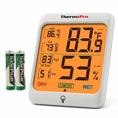 ThermoPro TP53 Hygrometer Thermometer Humidity Gauge Indicator Digital Indoor