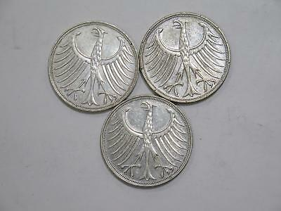 Germany 5 Mark Federal Republic Eagle Silver Type World Coin Collection Lot B