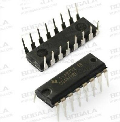 2Pcs CD4510 CD4510BE Cmos P Resettable Up/Down Counter Dip