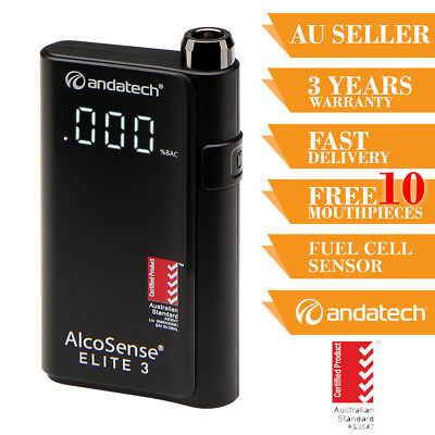 Breathalyser Personal Alcohol Breath Tester Andatech Alcosense Elite 3 Fuel Cell