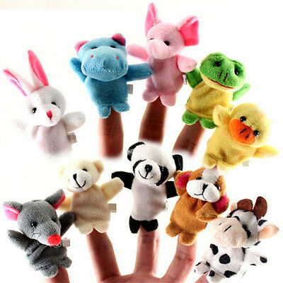 Kids Finger Puppets Plush Baby Toys Story Gaming Children Educational Toys Funny