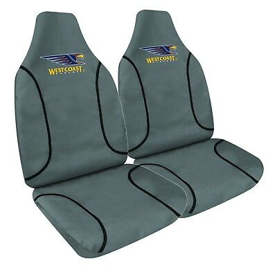 WEST COAST EAGLES Official AFL Canvas Seat Covers Airbag *Limited Edition*