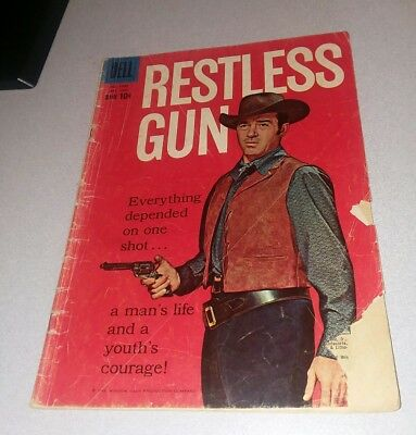 Restless Gun 1045 Dell Comics Vint Bonner Four-Color Tv Classics 1960 Silver Age