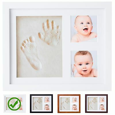 Baby Handprint Kit by Little Hippo |DELUXE SIZE + NO MOLD| Baby Picture Frame
