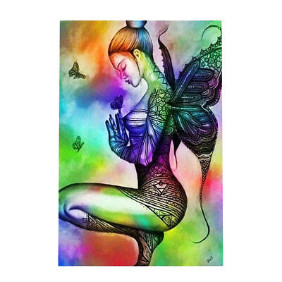 5D DIY Diamond Painting Embroidery Fairy Butterfly Cross Craft Stitch Decor