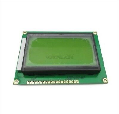 5Pcs ST7920 5V 12864 128X64 Dots Graphic Lcd Yellow Green Backlight US Stock h