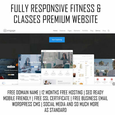 Fitness & Classes Premium Website | WordPress Web Design | Mobile Responsive SSL
