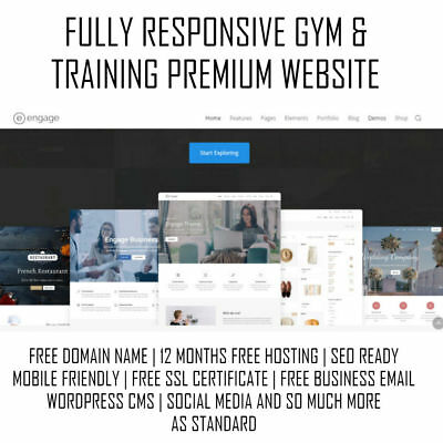 Gym & Training Premium Website | WordPress Web Design | Mobile Responsive SSL
