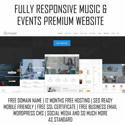 Music, Bands & Events Premium Website | WordPress Web Design | Mobile Responsive