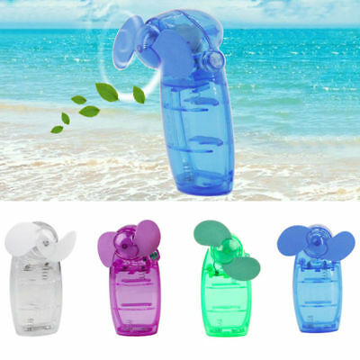 Mini Portable Hand held Desk Fan Cooler Cooling Battery Travel Air Conditioner A