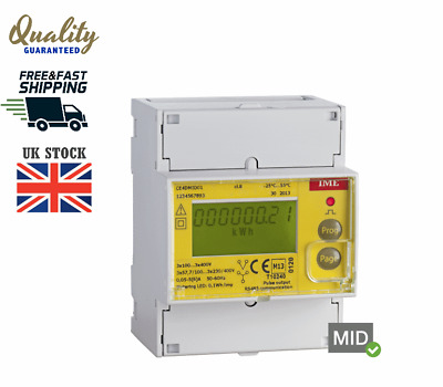 Ime Conto Kwh-Meter 3Fn 63A Mid+Rs Ce4Mid31 Electricity Meter 3Phase Din Rail