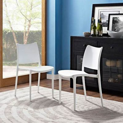 Modway Furniture Hipster Dining Side Chair Set of 2 in White - EEI-2424-WHI-SET