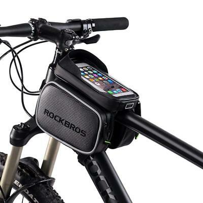 ROCKBROS Cycling Frame Tube Bag Rainproof Touch Screen For 5.8'' 6.2'' Phone Bag