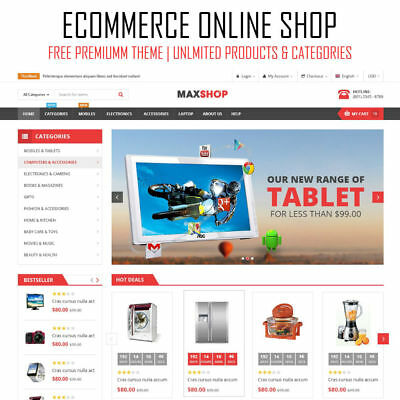 Web Design eCommerce Online Store | Premium WordPress Website Shop | Woocommerce