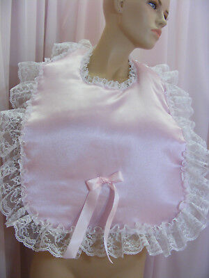 sissy adult baby lg padded bibs make your own colour lace backing fancydress