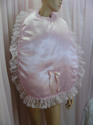 sissy adult baby xlg padded bibs make your own colour lace backing fancydress