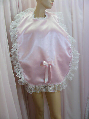 sissy adult baby xlg frilly bibs make your own colour lace backing fancydress