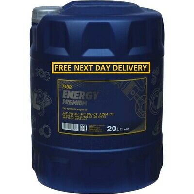 Long Life 5w-30 Fully Synthetic Engine Oil ACEA C3 Dexos 2 API SN 20 Litre 20L