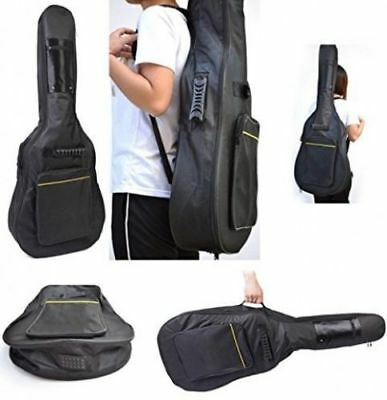 Full-Size Padded Protective Classical Acoustic Guitar Bag Carry Back Case Black