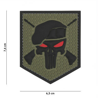 Punisher Command Patch Klett Abzeichen Airsoft Paintball Tactical Sniper Softair
