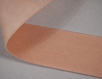 "2"" inch 50mm wide light pink woven elastic 2.1mm thick"