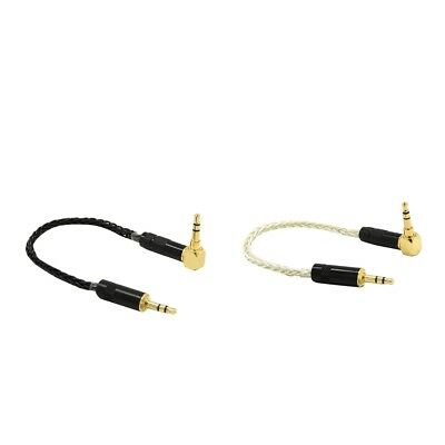 2x Aux 3.5mm Stereo Audio Cable 90 degree Male to Male For PC MP3 CAR