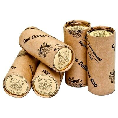 2016 $1 SPIRIT LIVES ANZAC MINT ROLL 1 x Coin Roll Royal Australian Mint