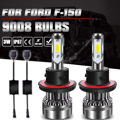 H13 9008 LED Headlights Conversion Kit for 2004-2014 Ford F-150 High Low Beam