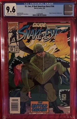 Marvel GI JOE A Real American Hero #114 CGC 9.6 NM+ Near Mint SNAKE-EYES ORIGIN